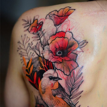 Elegant Animalistic Tattoos by Joanna Swirska