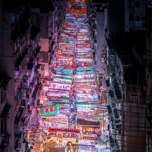 Ultraviolet Break of Day: A Midnight Walk Through the Neon-Hued Streets of Asian Cities by Marcus Wendt