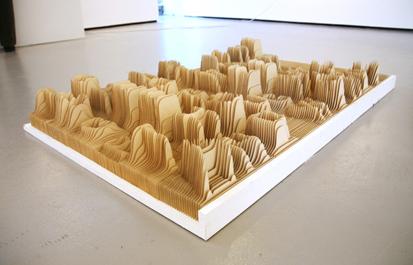 Alphabet Topography wood typography