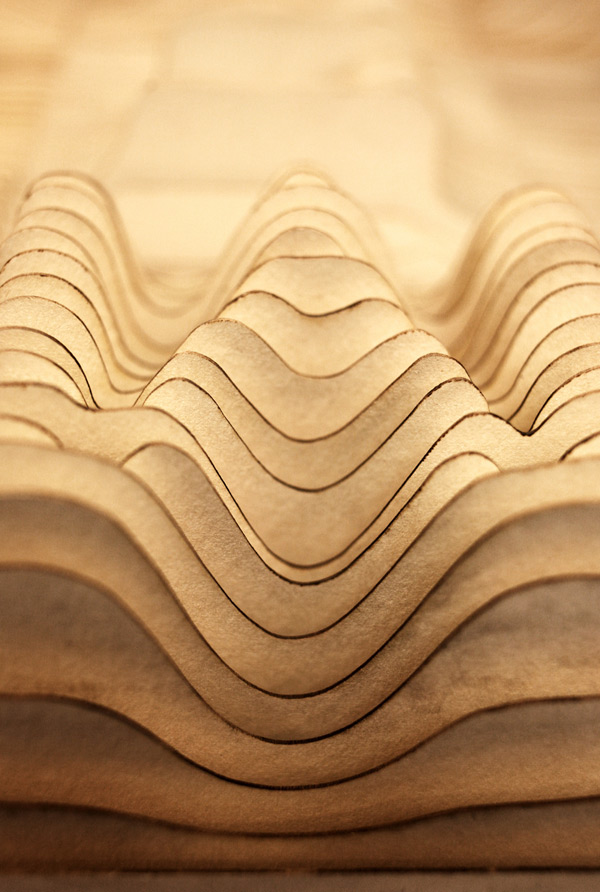 Alphabet Topography wood typography design
