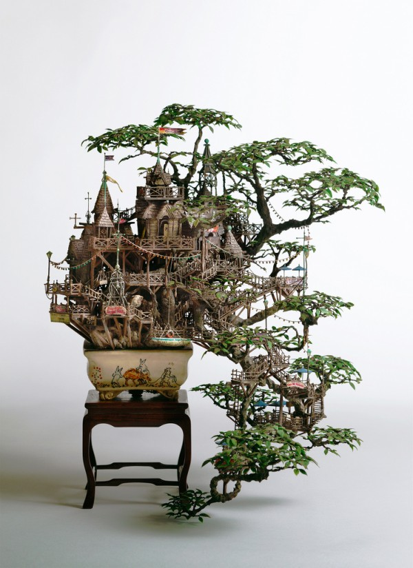 Bonsai Tree Houses by Takanori Aiba sculpture art