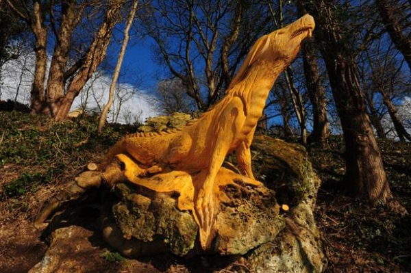 Guerilla Tree Sculptor in North Yorkshire Identified (is not Banksy) wood trees sculpture England