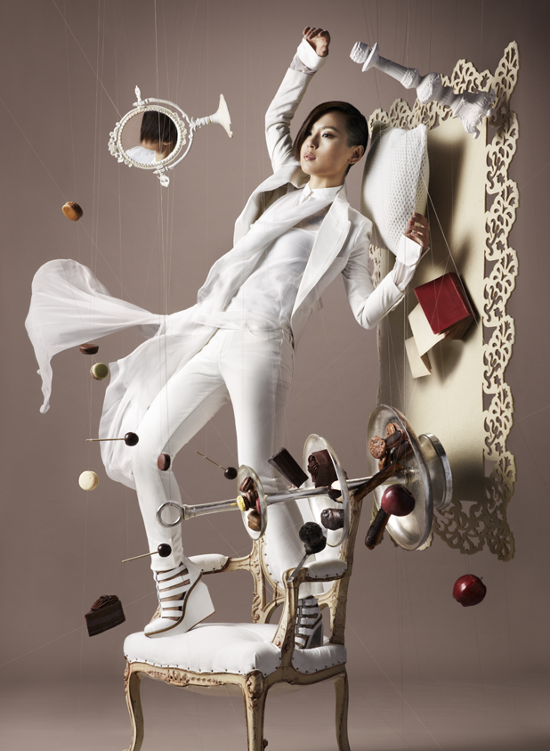 Gravity Defying Photography for Chocolate Trail by NAM chocolate advertising