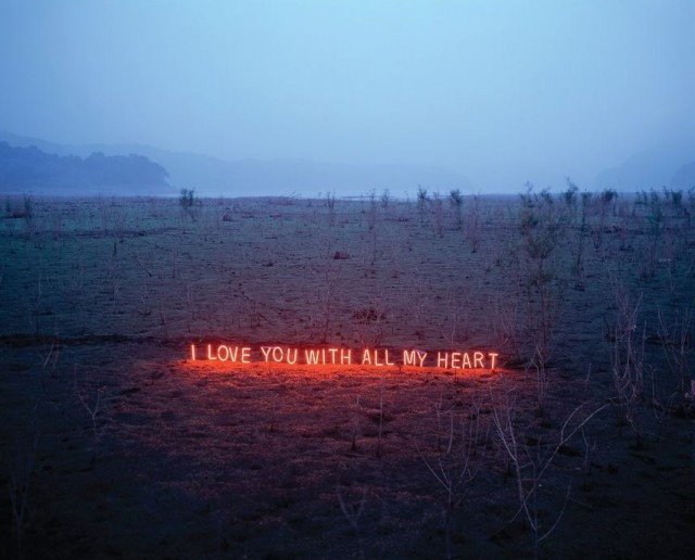Neon Text Installations by Lee Jung typography photography light installation art