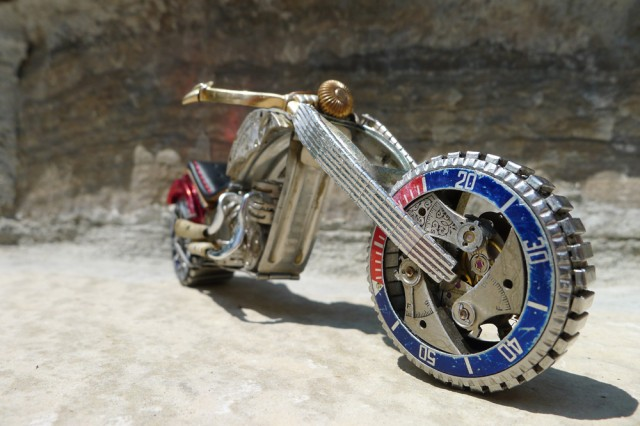 Watch Part Motorcycles watches sculpture motorcycles