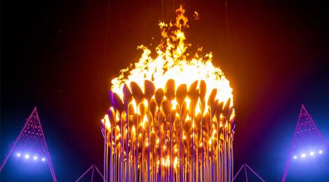 The 2012 Olympic Cauldron by Thomas Heatherwick