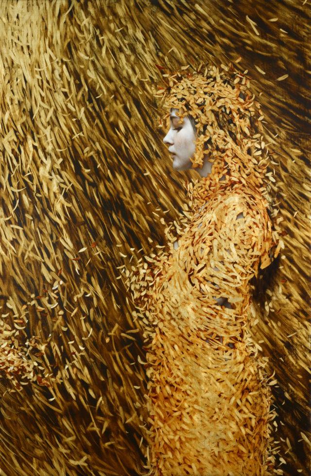 Leaf Paintings by Brad Kunkle painting leaves