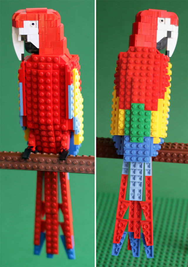 Tropical Lego Birds Lego birds