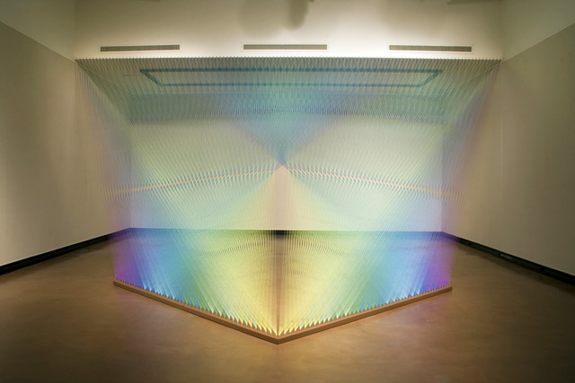 Colored Thread Installations by Gabriel Dawe thread installation color