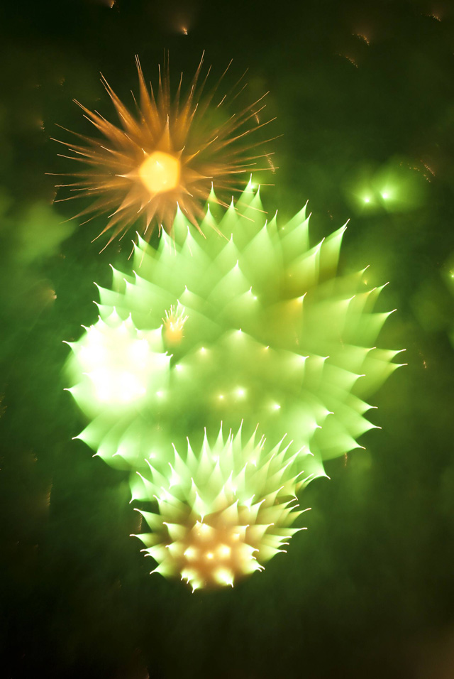 Unusual Long Exposure Firework Photographs by David Johnson long exposure light fireworks color
