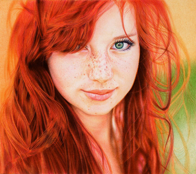 This is Not a Photograph: Amazing Portrait Drawn with Ballpoint Pens by Samuel Silva | Colossal