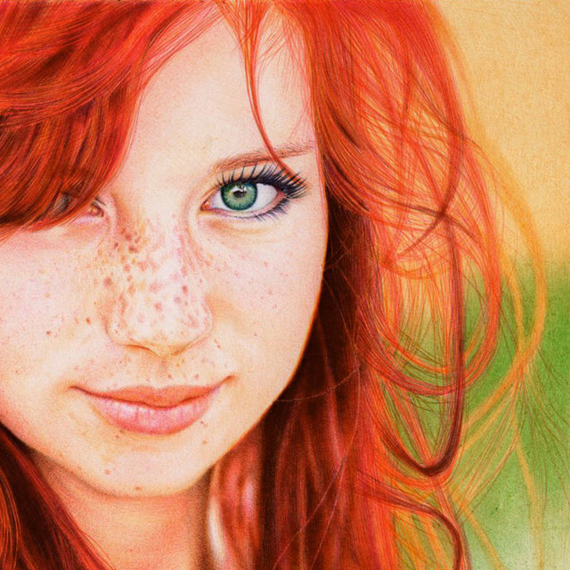 This is Not a Photograph: Amazing Portrait Drawn with Ballpoint Pens by Samuel Silva portraits photorealism drawing
