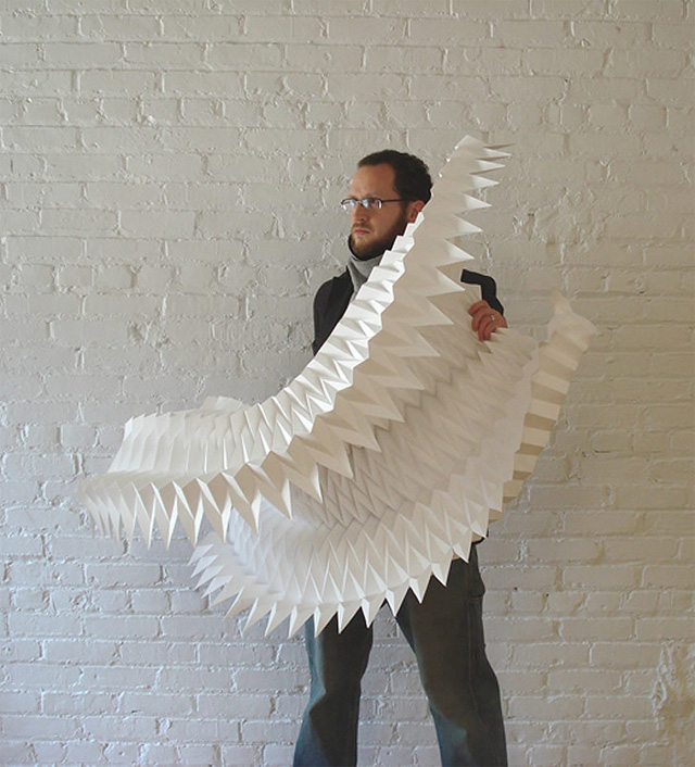 New Geometric Paper Art from Matthew Shlian paper geometric