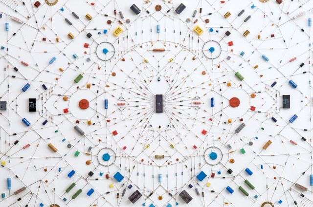 Technological Mandalas Made from Soldered Computer and Radio Components