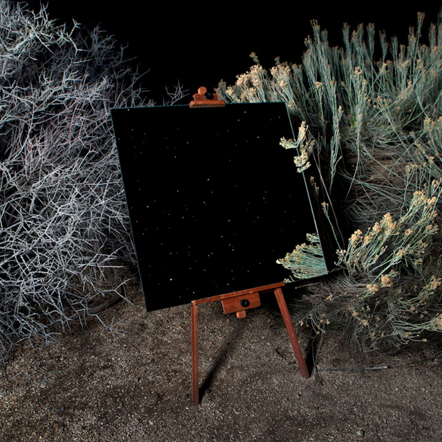 Mirrors on Easels Create the Illusion of Desert Landscape Paintings in Californias Joshua Tree National Park mirrors landscapes California