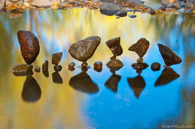 The Balanced Rock Sculptures of Michael Grab Rely Solely on Gravity rocks land art balance