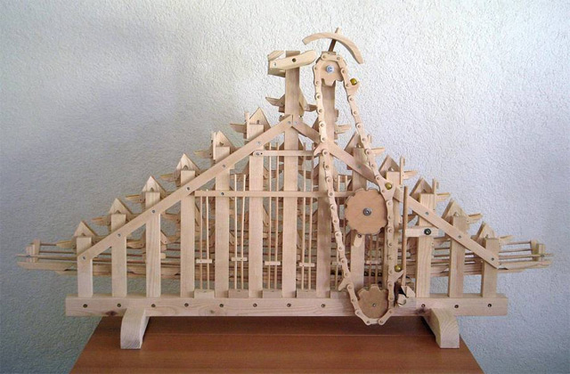Seven Incredible Marble Machines by Paul Grundbacher wood toys marbles kinetic sculpture