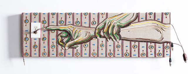 Federico Uribe Paints with Reused Electrical Cables sculpture painting multiples