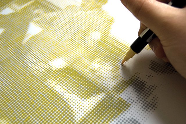 The Human Printer: CMYK Halftone Prints Recreated by Hand printers multiples halftone drawing