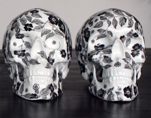Floral Porcelain Skulls by NooN skulls porcelain anatomy