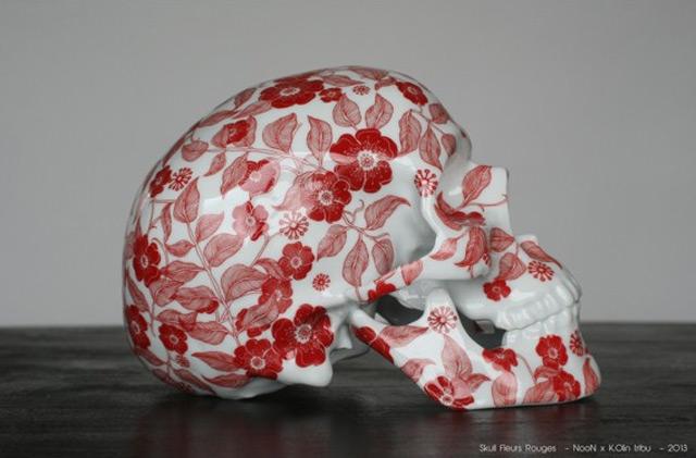 Floral Porcelain Skulls by NooN | Colossal