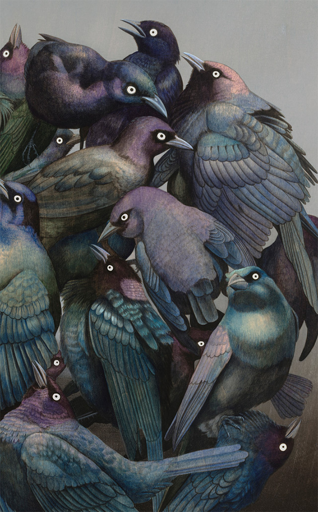 Surreal Wildlife Paintings by Tiffany Bozic painting nature illustration animals