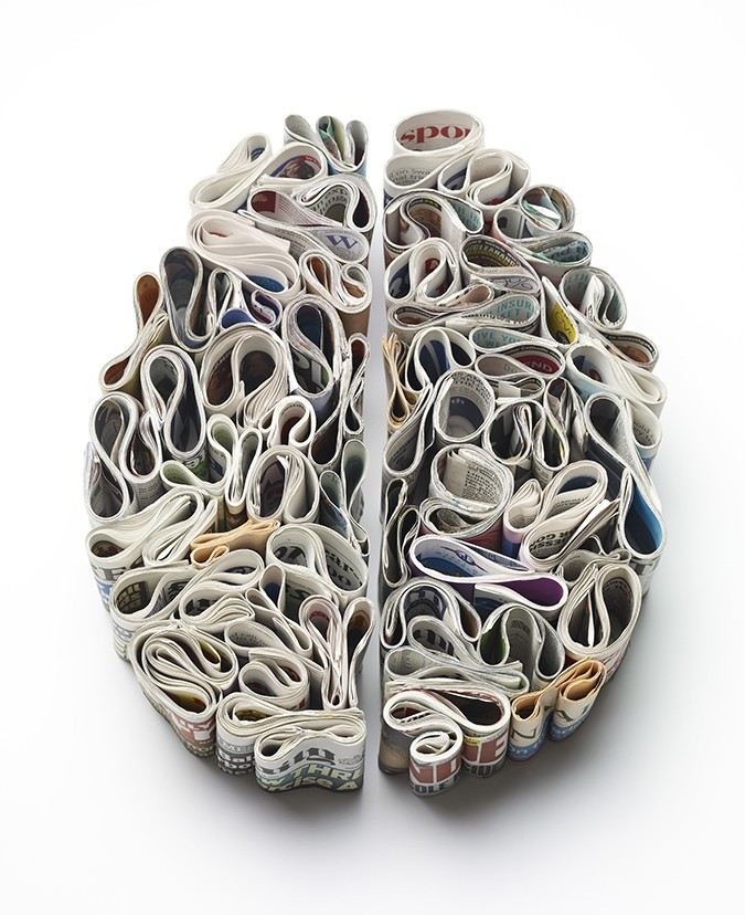 brains made of toothpaste newspaper and food by kyle bean