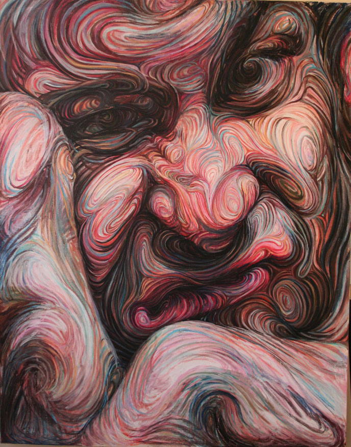 Swirling, Psychedelic Self-Portraits by Nikos Gyftakis | Colossal