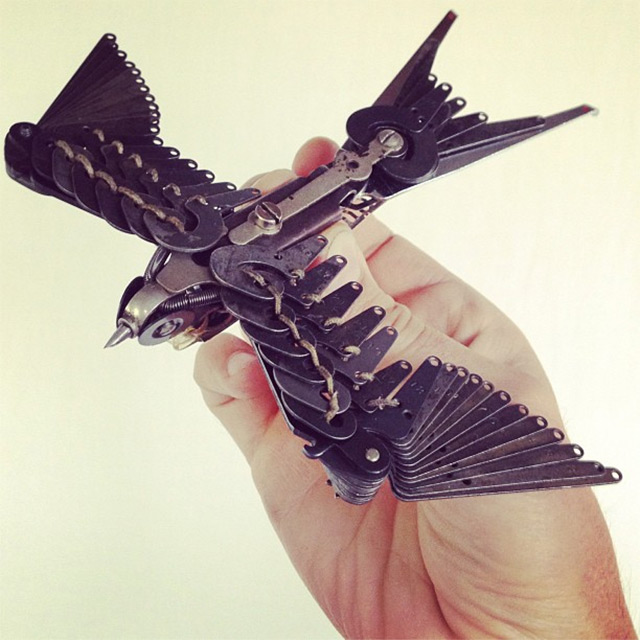 New Typewriter Part Birds by Jeremy Mayer | Colossal