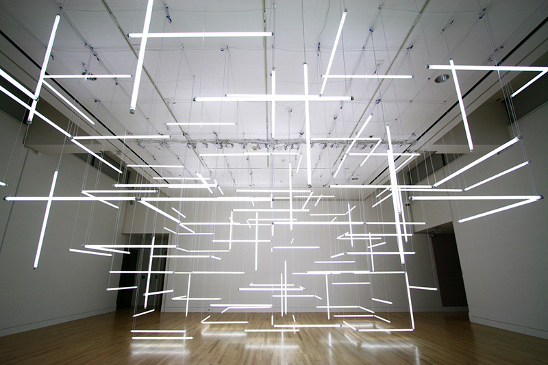 A Geometric Labyrinth of 200 Fluorescent Lights at Frye Art Museum | Colossal