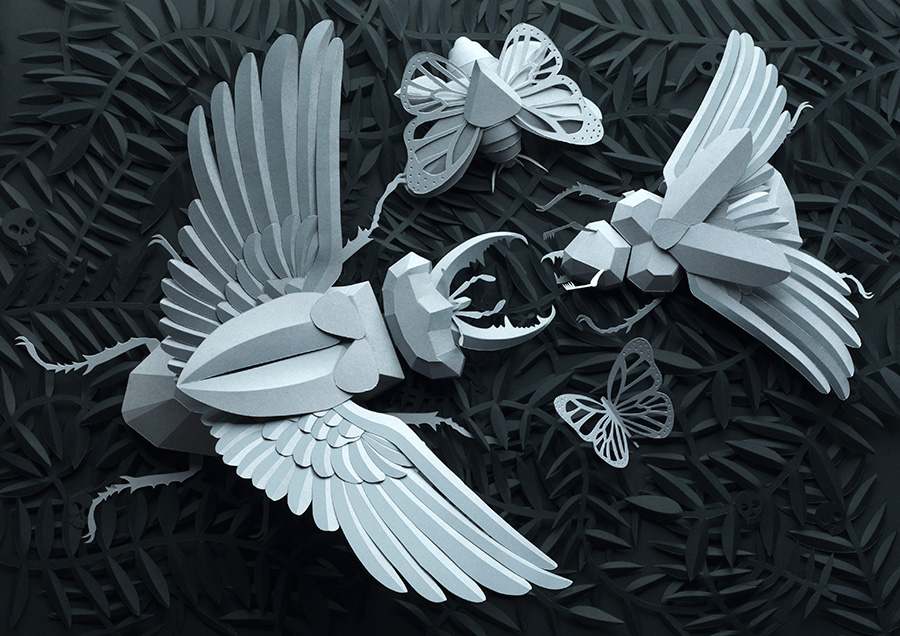 Drawing with Paper: Amazing Papercraft from Lobulo Design