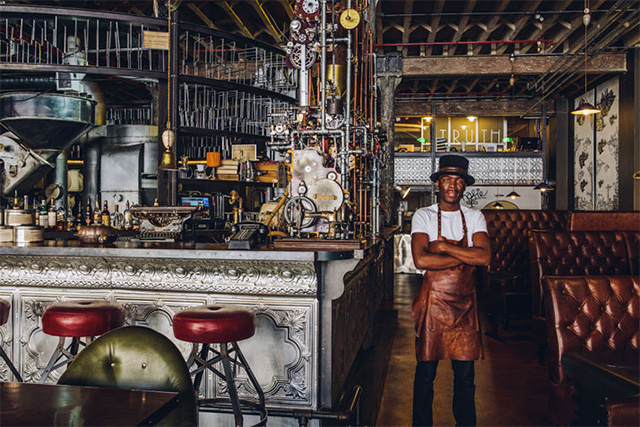 Step inside truth a steampunk coffee shop in cape town for Vintage einrichtung shop