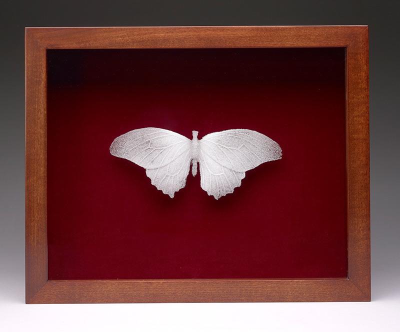 Delicate Butterflies Cast in Glass Dust by Michael Crowder glass butterflies