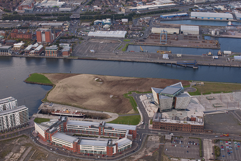 WISH: A Monumental 11 Acre Portrait in Belfast by Jorge Rodríguez Gerada portraits land art Belfast