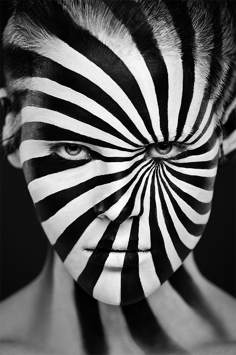 Face Art Painting Black And White