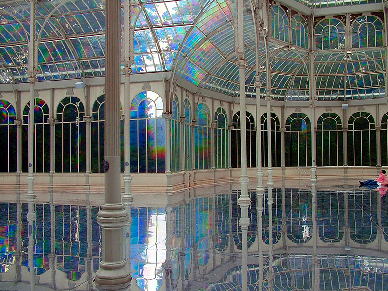 A Reflective Palace of Rainbows by Kimsooja rainbows mirrors light installation architecture