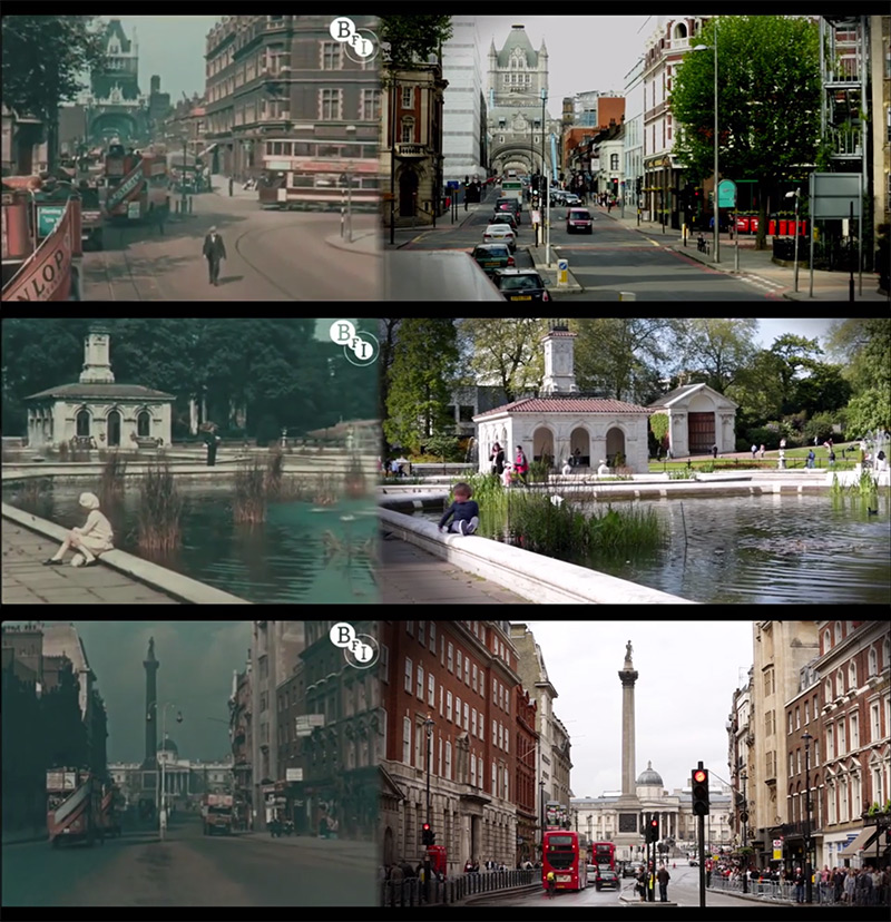 London in 1927 & 2013: A Shot By Shot Video Comparison of London, 86 Years Apart London history