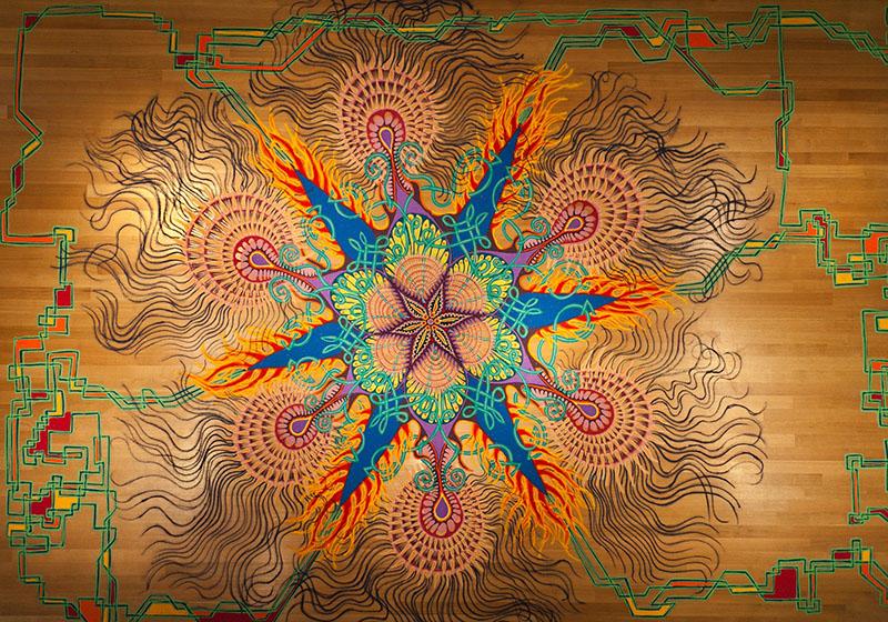 Spontaneous Temporary Sand Paintings by Joe Mangrum | Colossal