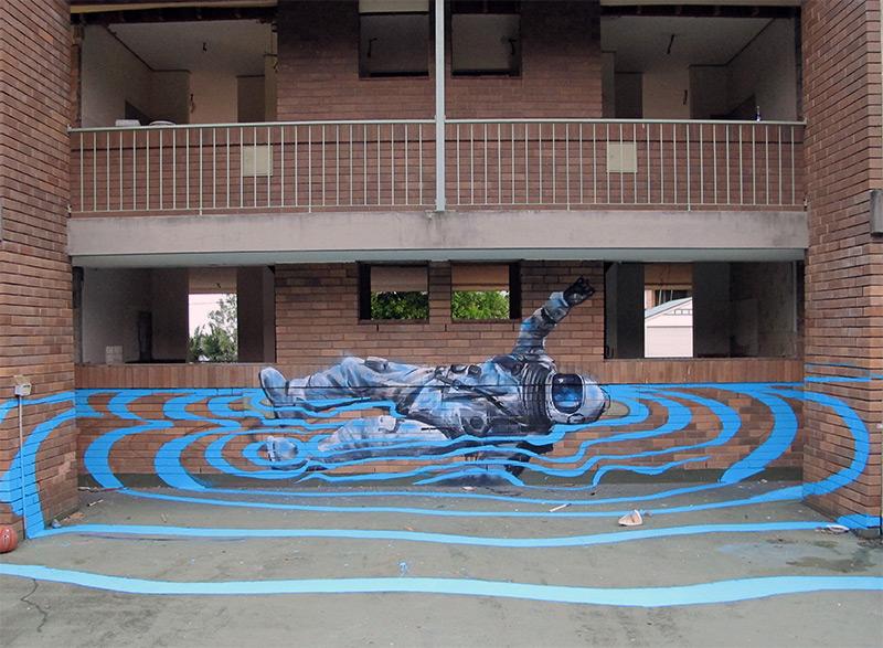 Guerilla Murals by Fintan Magee street art murals
