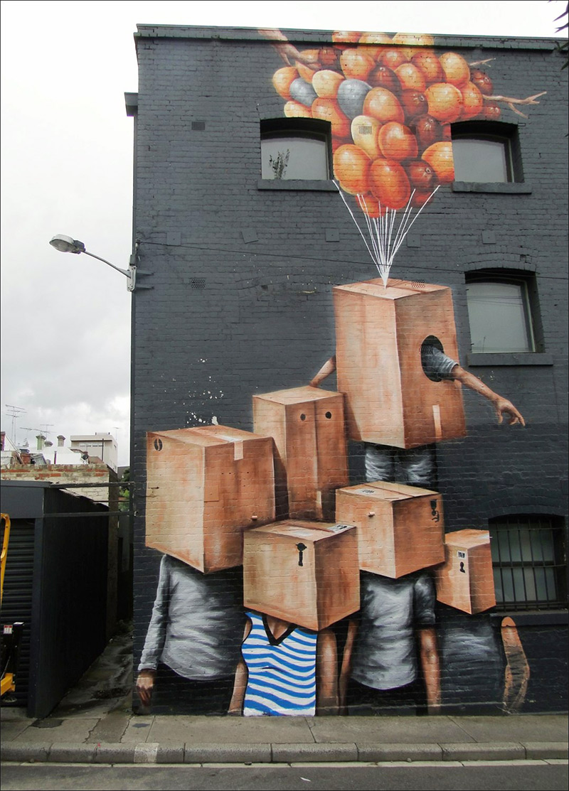 Guerilla Murals by Fintan Magee | Colossal