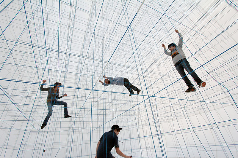 A Massive Inflatable String Jungle Gym by Numen/For Use string installation