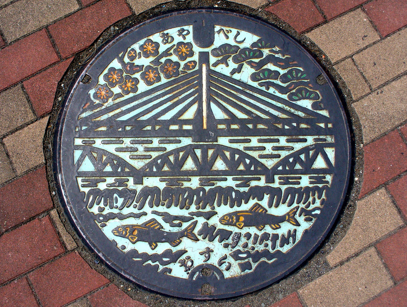 The Beauty of Japans Artistic Manhole Covers manholes Japan illustration