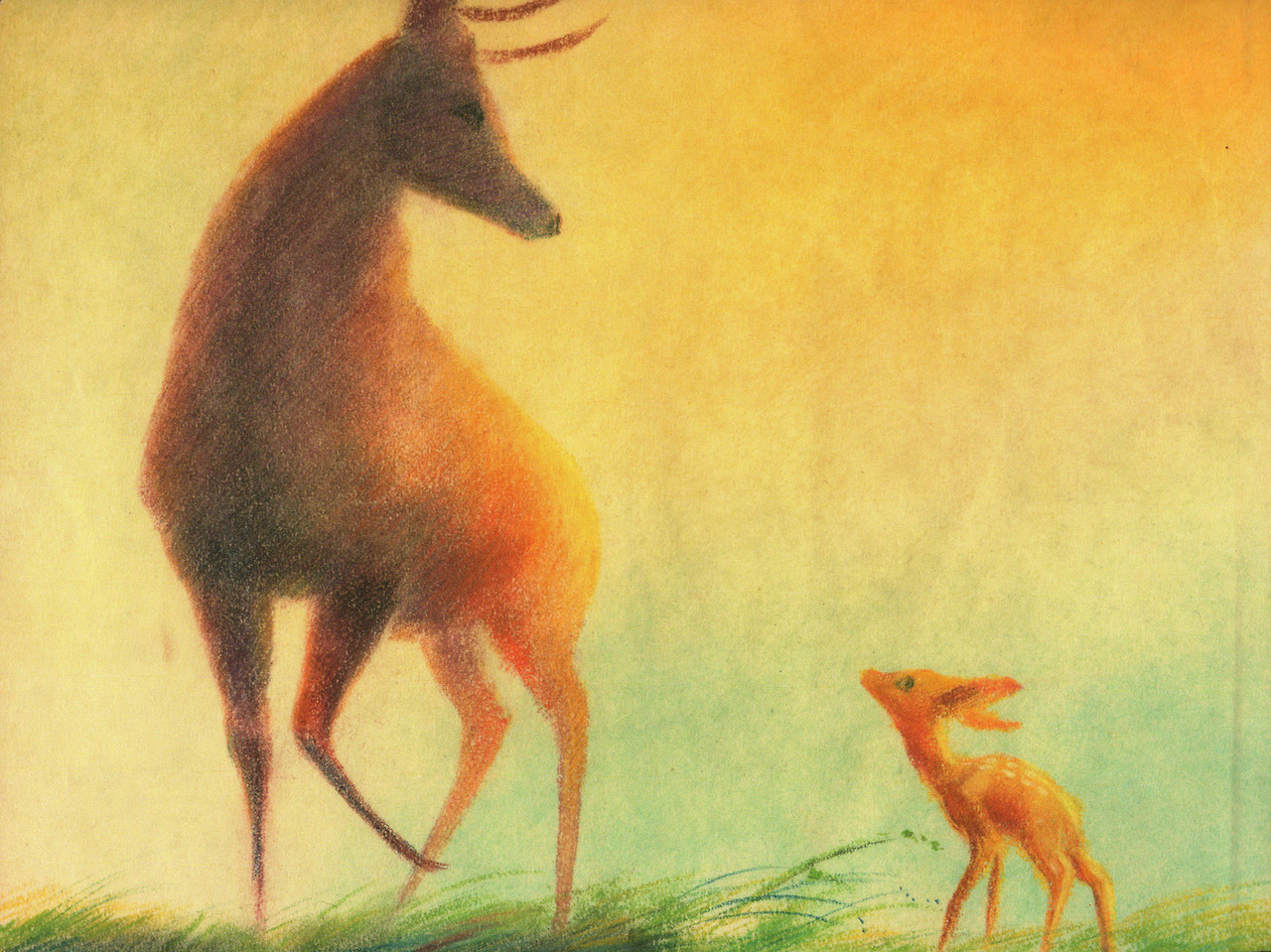 The Pastel Illustrations of Tyrus Wong That Would Inspire the Movie Bambi pastel movies illustration deer animation
