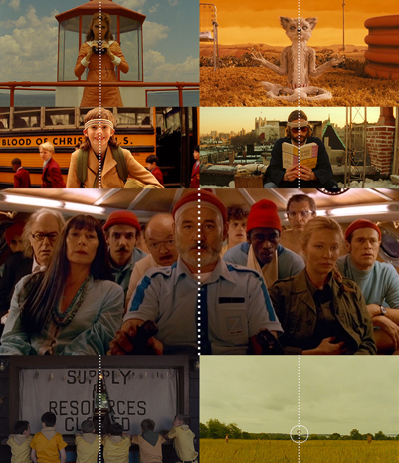 A Supercut of Centered Shots in Wes Anderson Films movies