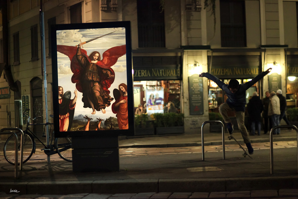 A World Where Outdoor Advertising is Replaced by Classical Paintings consumerism advertising