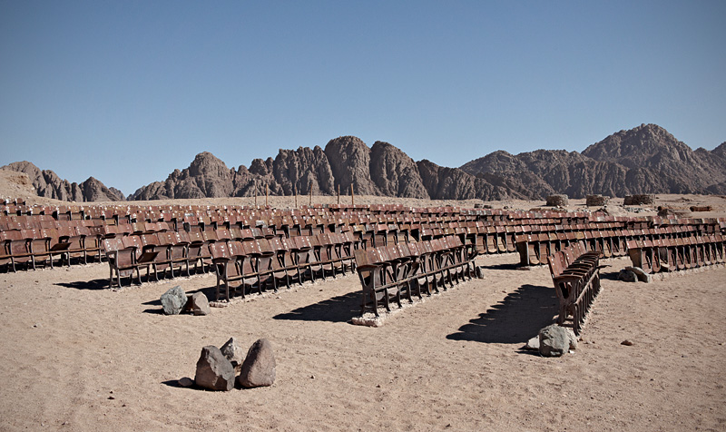 End of the World Cinema: An Abandoned Outdoor Movie Theater in the Desert of Sinai movies Egypt
