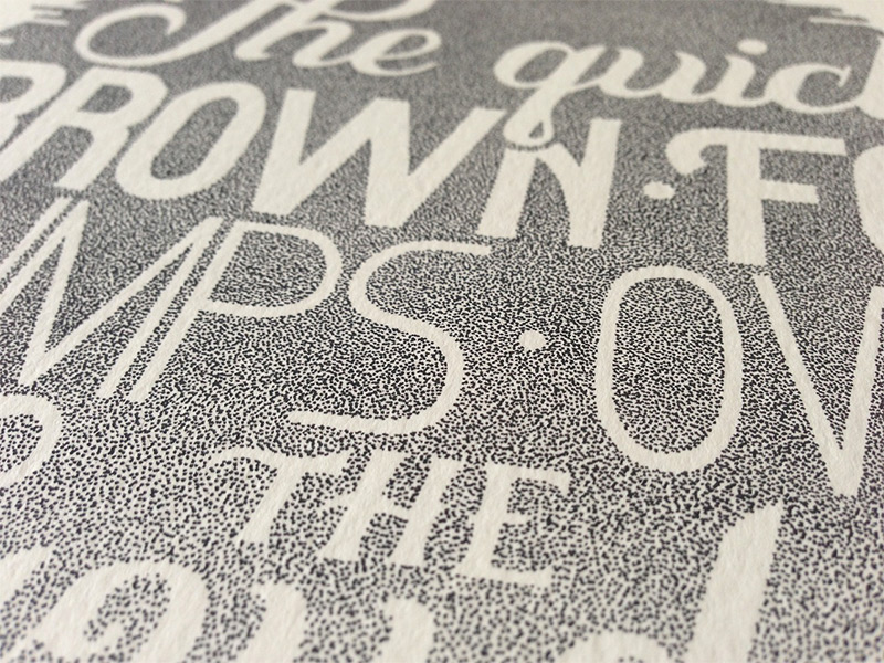 Beautiful Stippled Hand Lettering and Illustrations by Xavier Casalta | Colossal
