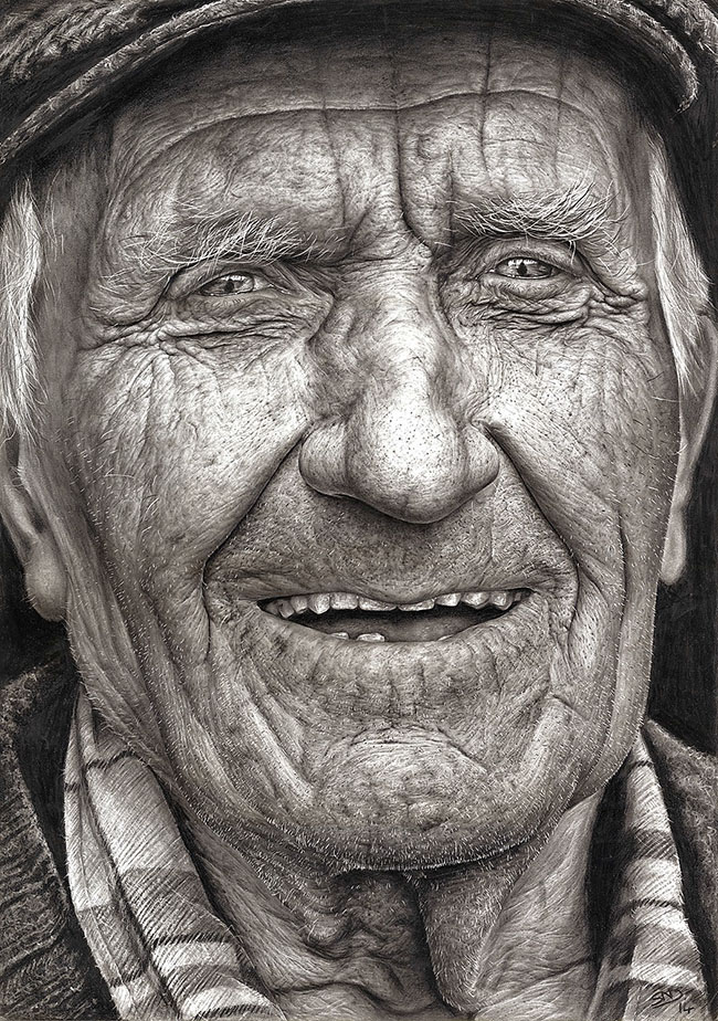 Sixteen-Year-Old Artist Wins National Art Competition with Masterful Hyper-Realistic Pencil Portrait | Colossal