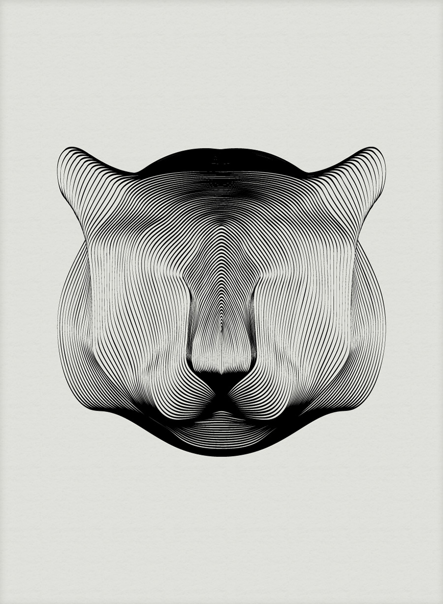 Animals Drawn with Moiré Patterns | Colossal