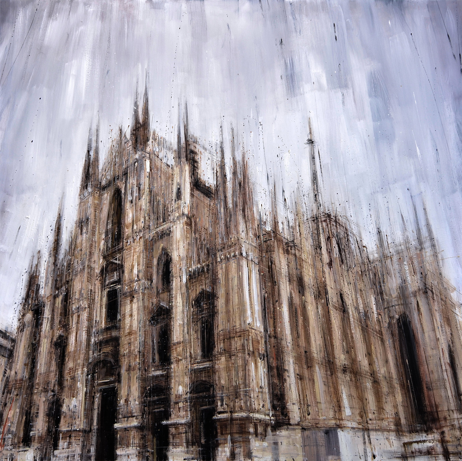 New Blurred Cityscapes by Valerio DOspina painting New York Italy cityscapes architecture